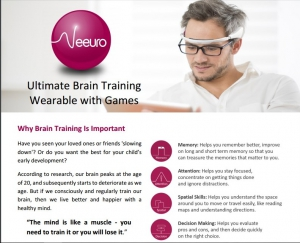 Ultimate Brain Training Wearable with Games - Product Brochure
