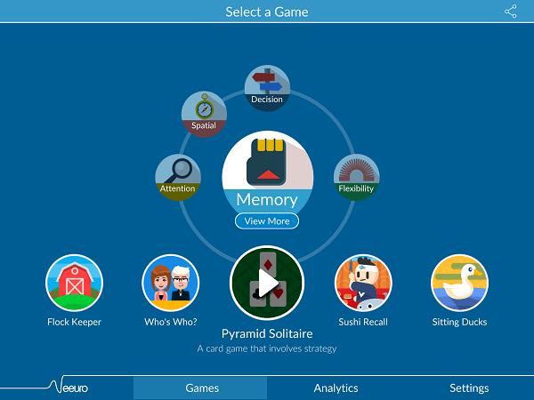Neeuro Memorie Game Screen - 600x450