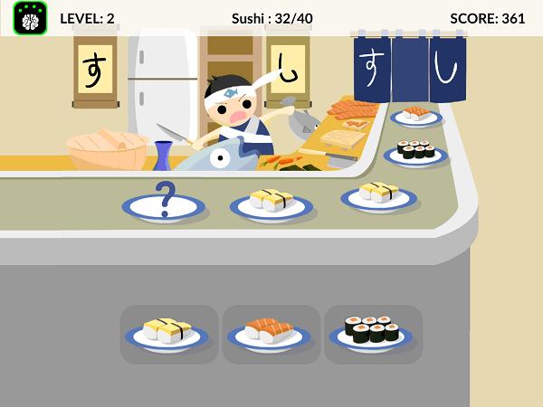 Neeuro Memorie Game - Sushi Recall - 600x450