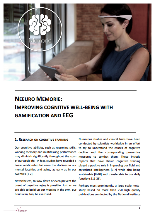 Neeuro Memorie - Improving Cognitive Well-Being with Gamification and EEG